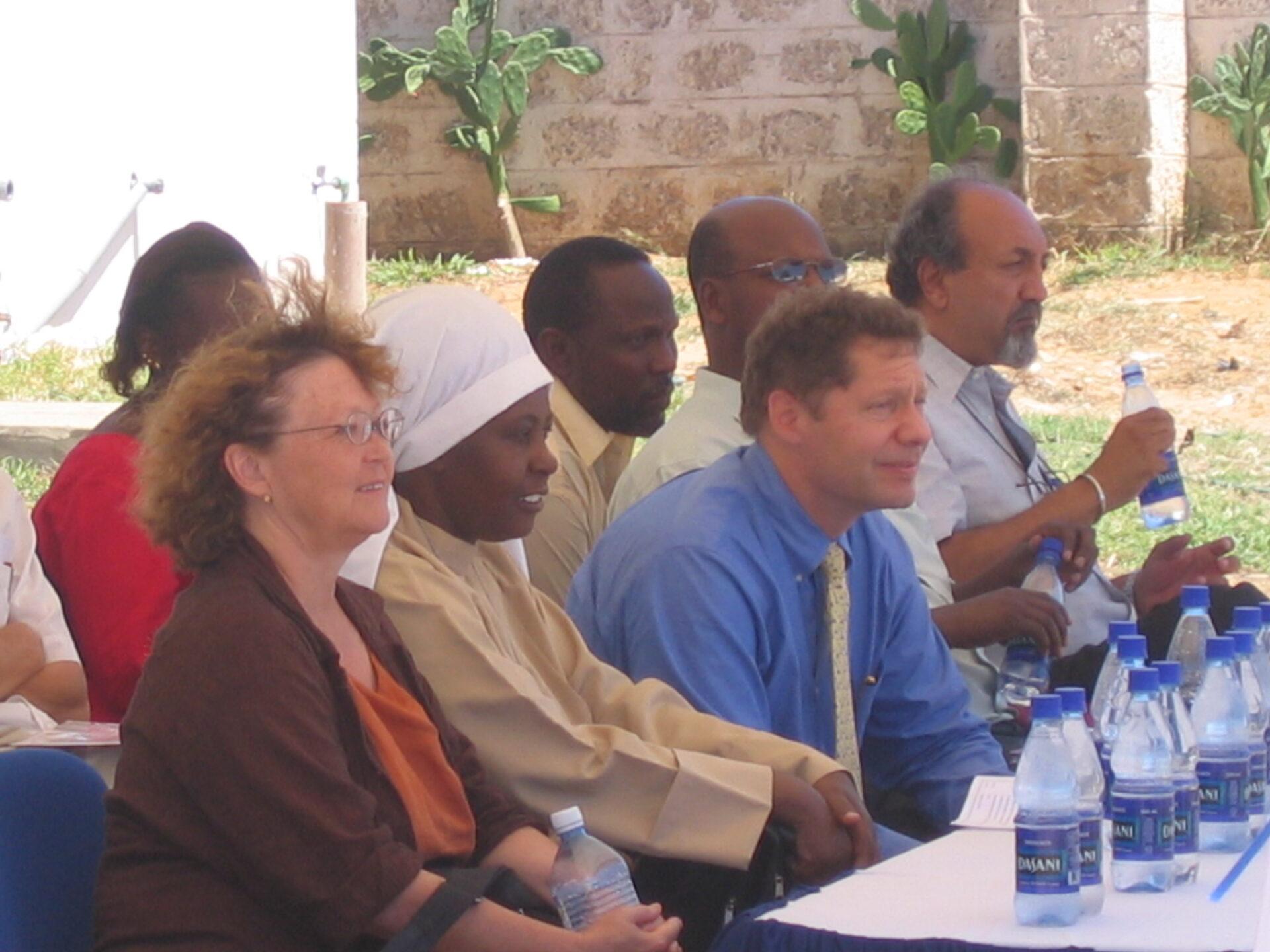 Photo of audience, including Seth Berkley, at opening of new KEMRI-Kilifi buildings